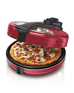 HAMILTON BEACH PIZZA OVEN W/ ROTATING TRAY FOR EVEN COOKING