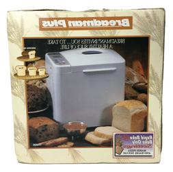 Breadman Plus TR800 56-Program 2-Pound Horizontal Bread Mach