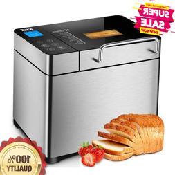 KBS Pro Stainless Steel Bread Machine, 2LB 17-in-1 Programma
