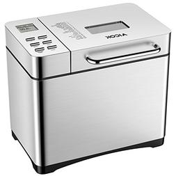 Automatic Bread Maker, Aicok 2.2LB Fully Stainless Steel Bre