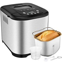 Programmable Bread Maker, Aicok 2.2LB Stainless Steel Bread