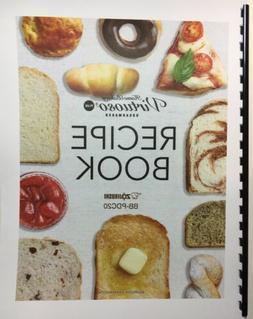 RECIPE BOOK for Zojirushi Home Bakery Virtuoso Plus Breadmak
