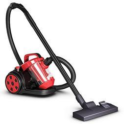 COSTWAY Bagless Canister Vacuum Rewind Corded Carpet Hard Fl
