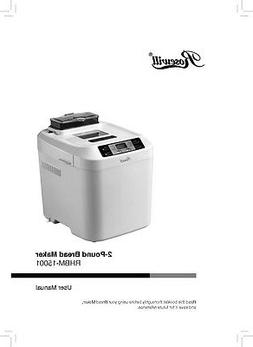 Rosewill RHBM-15001 Bread Machine Owners Manual