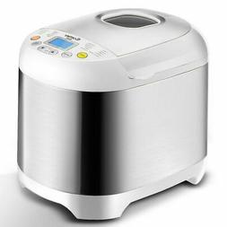 Stainless Steel 2LB 550W Electric Bread Maker Machine Progra