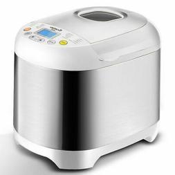 Stainless Steel 2LB 550W Electric Bread Maker Machine Progra