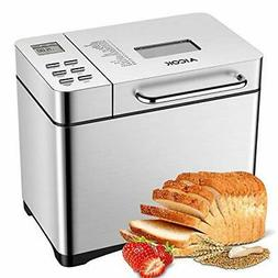 Aicok Stainless Steel Bread Machine, 2LB 19-in-1 Programmabl