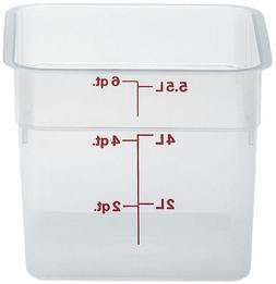 Cambro Translucent Square Storage Container 6qt. - 8.5sq X 7