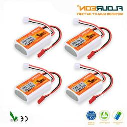 4X 800mAh 7.4V 2S 25C LiPo Battery JST-XH For RC Car Boat He