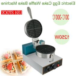 USA Electric Egg Cake Oven Puff Bread Machine QQ Egg Waffle