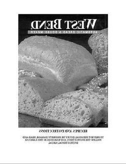 West Bend Bread Machine Manual 41026 41028 41030 41035 41038