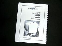 White Westinghouse WWTR444A Bread Maker Machine Instruction