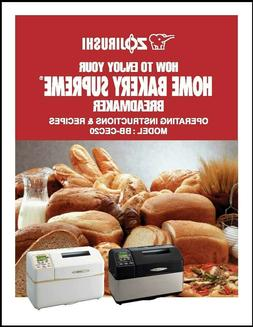 Zojirushi BB-CEC 20 Bread Machine Owner's Instruction Manual