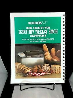 Zojirushi BB-PAC20 Bread Machine Manual Owners Instruction U